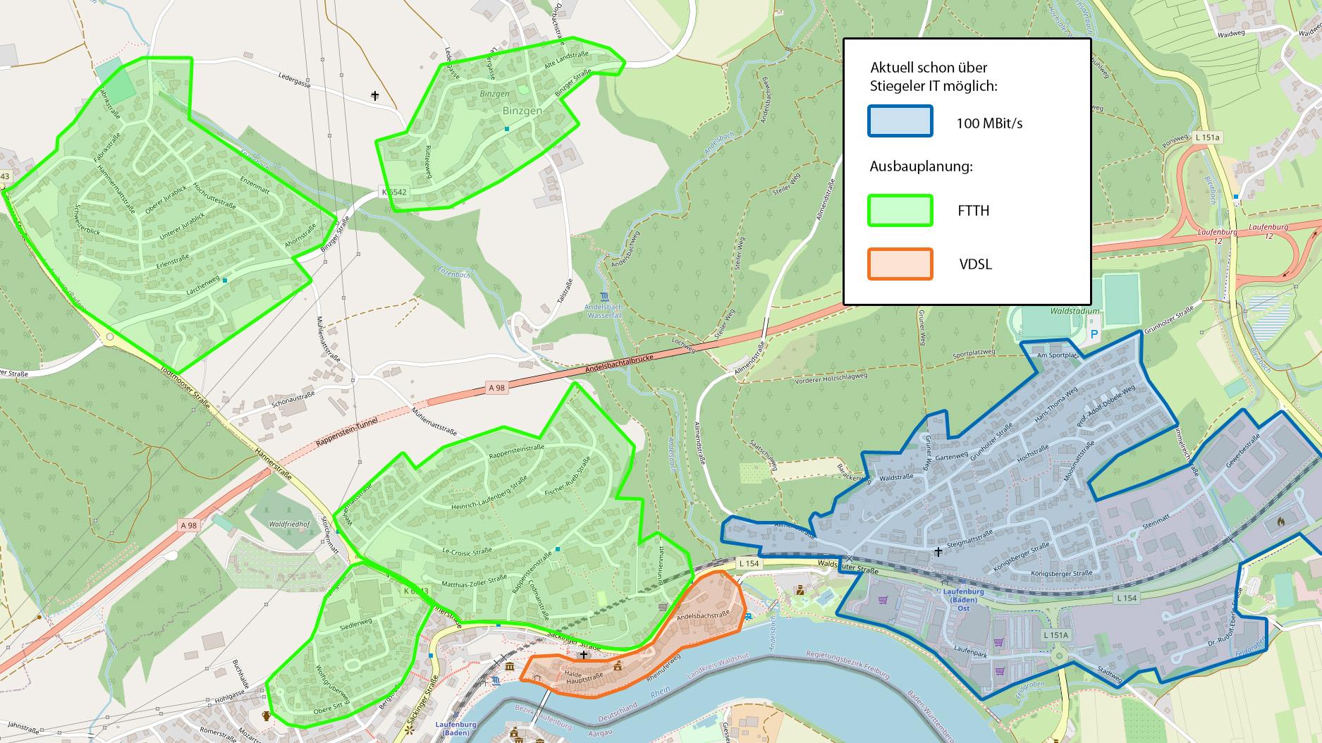 Stiegeler IT und Stadt modernisieren Breitband-Infrastruktur von Laufenburg