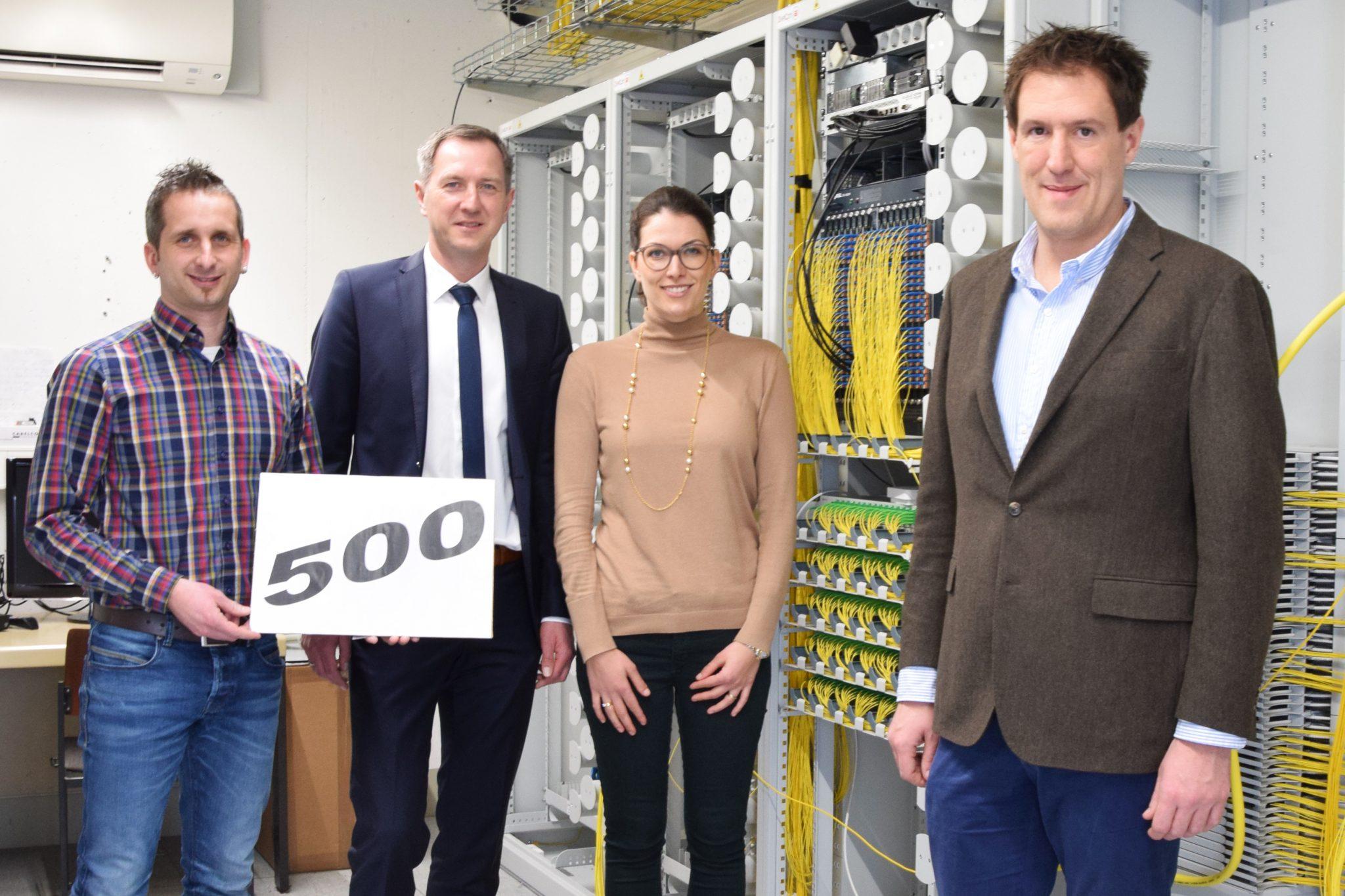 Über 500 Kunden werden von Stiegeler IT mittlerweile in Brigachtal über das Glasfasernetz versorgt.