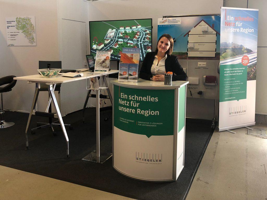 Auf der Südwest Messe 2018 in Villingen-Schwenningen steht Stiegeler IT mit seinem Team für Fragen rund um die Glasfaser zur Verfügung.