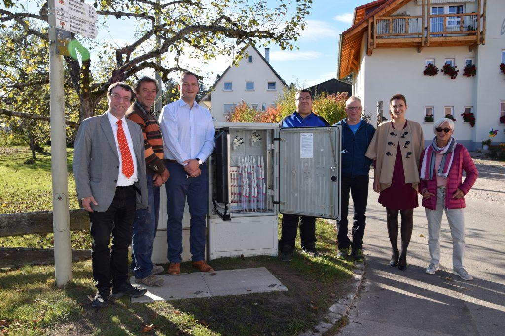 Das Netz in Herzogenweiler, Ortsteil von Villingen-Schwenningen, wurde offiziell in Betrieb genommen.